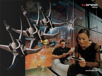 Nokia N-Gage advertisement from 2003.